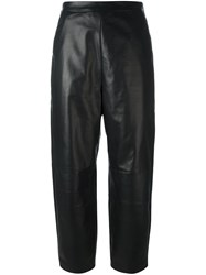 Neil Barrett Leather Cropped Pants Black