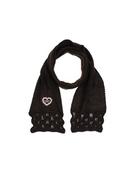 Guess Oblong Scarves Dark Brown