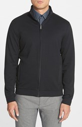Men's Boss 'Cannobio 75' Regular Fit Full Zip French Terry Sweatshirt Black