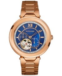 Wittnauer Women's Automatic Taylor Rose Gold Tone Stainless Steel Bracelet Watch 38Mm Wn4024