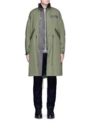Sacai Vest Underlay Padded Military Coat Green