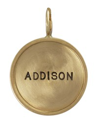 14K Gold Gold Single Uppercase Name Charm Heather Moore