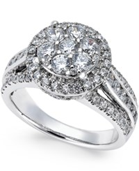 Prestige Diamond Engagement Ring 1 1 2 Ct. T.W. In 14K White Gold