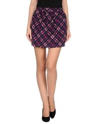 Dandg D And G Mini Skirts Purple