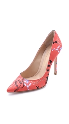 Mary Katrantzou Foliage Pumps Orange