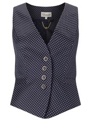 Alice By Temperley Somerset By Alice Temperley Pin Dot Button Waistcoat Navy