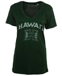 Royce Apparel Inc Women's Hawaii Warriors Vintage Arch T Shirt Green