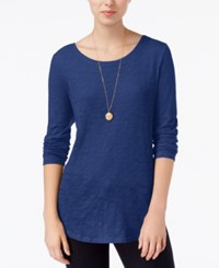 Maison Jules Long Sleeve Crew Neck Top Only At Macy's Bright Sapphire