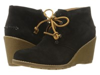Sperry Stella Prow Black Women's Wedge Shoes