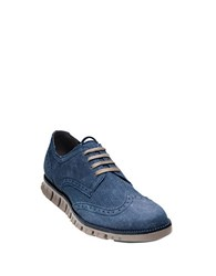 Cole Haan Zero Grand Wingtip Sneakers Marine Blue