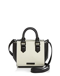 Kendall And Kylie Brook Color Block Mini Satchel Black White