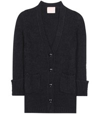 81 Hours Baly Alpaca And Merino Wool Blend Cardigan Black