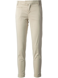 Jacob Cohen Cropped Trousers Nude And Neutrals