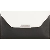 Mark Cross Colorblock Scottie Flap Wallet Black