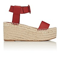 Vince. Women's Abby Leather Espadrille Wedge Sandals Red