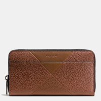 Coach Accordion Wallet In Patchwork Leather Dark Saddle