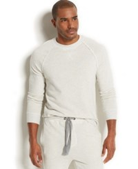 2Xist 2 X Ist Men's Loungewear Terry Pullover Sweatshirt White Heat