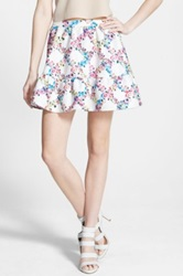 Lucca Couture Floral Jacquard Miniskirt Multi
