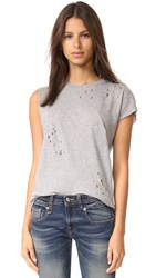 R 13 Tattered T Shirt Heather Grey