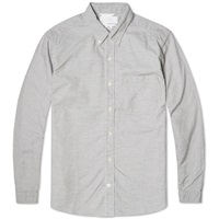 Nanamica Button Down Wind Shirt Heather Grey Oxford