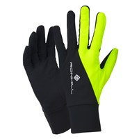 Ronhill Beanie And Glove Set Black Fluorescent Yellow