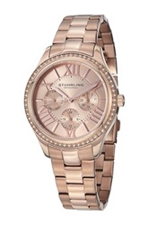 Stuhrling Women's Lady Majestic Se Swarovski Watch Metallic