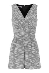 Sleeveless V Neck Playsuit By Wal G Black