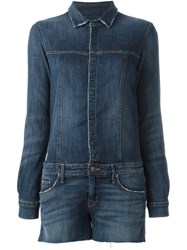 Hudson Denim Playsuit Blue