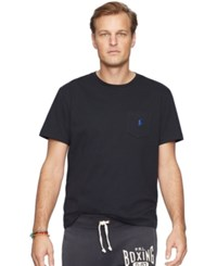 Polo Ralph Lauren Men's Big And Tall Jersey Pocket Crew Neck Polo Black