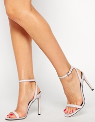 Asos Heads Or Tails Heeled Sandals Palepink