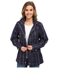 Ariat Burney Parka Navy Plaid Women's Coat Blue