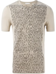 Helmut Lang Vintage Front Print T Shirt Nude And Neutrals