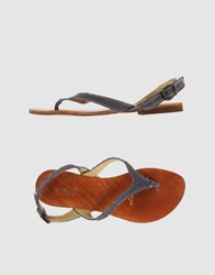 Geste Proposition Thong Sandals Mauve