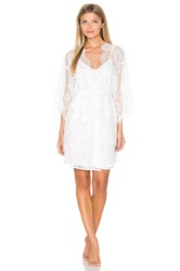 Homebodii Audrey Lace Robe With Slip White