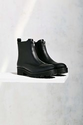 Urban Outfitters Modern Zip Moto Boot Black