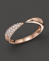 Bloomingdale's Diamond Claw Ring In 14K Rose Gold .20 Ct. T.W. Pink