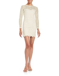 Design Lab Lord And Taylor Long Sleeve Lace Sheath Dress Canvas