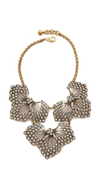 Lulu Frost Cactus Flower Statement Necklace Clear Gold
