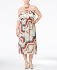 American Rag Plus Size Flounced Midi Dress Only At Macy's Alahambra Combo