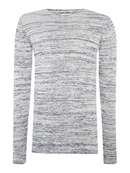 Only And Sons Textured Crew Neck Pull Over Jumpers Grey