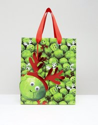 Paperchase Christmas Sprouts With Antlers Medium Gift Bag Multi
