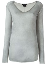 Avant Toi V Neck Relaxed Fit Jumper Green
