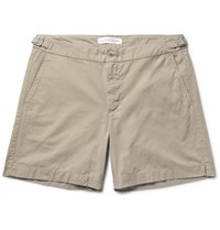 Orlebar Brown Carvin Slim Fit Cotton Twill Shorts Mushroom