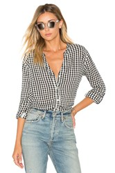 Soft Joie Dane Button Up Black And White