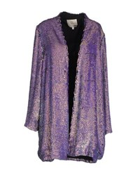 Essentiel Coats And Jackets Full Length Jackets Women Purple