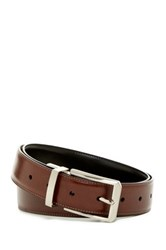 Original Penguin Laser Base Reversible Leather Belt Brown