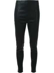 Dion Lee Stretch Compact Leather Pant Black