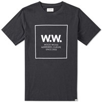 Wood Wood Ww Square Tee Black