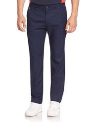 Lacoste Solid Straight Leg Pants Navy