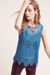 Anthropologie Lacework Shell Teal